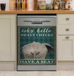Elephant Why Hello Sweet Cheeks Dishwasher Cover Sticker Kitchen Decor