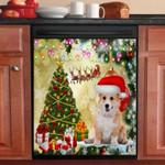 Corgi Christmas Tree Dishwasher Cover Sticker Kitchen Decor