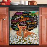 Daisy Lady Pattern Dishwasher Cover Sticker Kitchen Decor