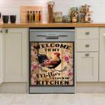 Chicken Welcome To My Mother Cluckin Kitchen Dishwasher Cover Sticker Kitchen Decor