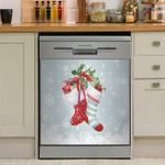 Christmas Socks Dishwasher Cover Sticker Kitchen Decor