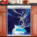 Deer Tree Horn Beautiful Pattern Dishwasher Cover Sticker Kitchen Decor