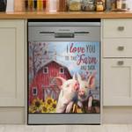 Farm Pig I Love You Dishwasher Cover Sticker Kitchen Decor