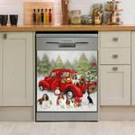 English Springer Happy Together Pattern Dishwasher Cover Sticker Kitchen Decor