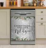 Christmas The Love Of Magic Dishwasher Cover Sticker Kitchen Decor