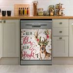 Deer Hunting Calm Dishwasher Cover Sticker Kitchen Decor