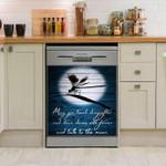 Dragonfly Blue Dishwasher Cover Sticker Kitchen Decor