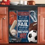 Vintage Sport Winners Are Not The People Who Never Fail Dishwasher Cover Sticker Kitchen Decor