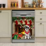 Chihuahua Christmas Gifts Decoration Lights Dishwasher Cover Sticker Kitchen Decor