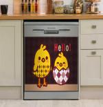 Chicken Dark Vintage Dishwasher Cover Sticker Kitchen Decor