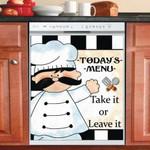 Chef Today's Menu Dishwasher Cover Sticker Kitchen Decor