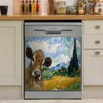 Wheat Field Jersey Cattle Dishwasher Cover Sticker Kitchen Decor
