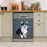 Corgi Watercolor Dishwasher Cover Sticker Kitchen Decoration