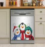 Three Penguins xmas Dishwasher Cover Sticker Kitchen Decor