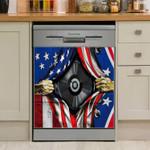 Dj Usa Flag Dishwasher Cover Sticker Kitchen Decor