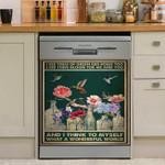 What A Wonderful World Hummingbird Dishwasher Cover Sticker Kitchen Decor