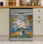 Yellow Daisy Wildflowers Multicolor Art Dishwasher Cover Sticker Kitchen Decor