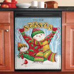Tis The Season Snowmen Dishwasher Cover Sticker Kitchen Decor