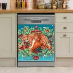 Christmas Horse Cardinal Dishwasher Cover Sticker Kitchen Decor