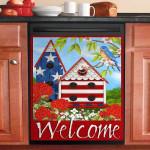 Welcome Patriotic Birdhouses Dishwasher Cover Sticker Kitchen Decor