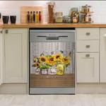 Today I Choose Joy Sunflower Hummingbird Dishwasher Cover Sticker Kitchen Decor