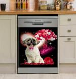 Shih Tzu Valentines Heart Dishwasher Cover Sticker Kitchen Decor