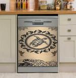 Turtle Mandala Dishwasher Cover Sticker Kitchen Decor