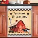 Welcome To Our Farm Dishwasher Cover Sticker Kitchen Decor