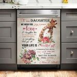 To Our Daughter Your Life Is Beautiful Gift Giraffe Dishwasher Cover Sticker Kitchen Decor