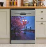 Cherry Blossom At Night Dishwasher Cover Sticker Kitchen Decor