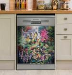 Cottage Pond Dishwasher Cover Sticker Kitchen Decor