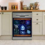 Virgo Zodiac Galaxy Dishwasher Cover Sticker Kitchen Decor
