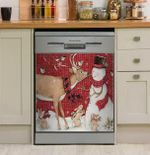 Small Paisley Snowman Dishwasher Cover Sticker Kitchen Decor