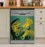 Sophisticated Callas Dishwasher Cover Sticker Kitchen Decor