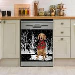 Vizsla Snowy Night Dishwasher Cover Sticker Kitchen Decor