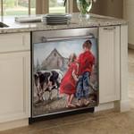 Children Melk Plaas Cow Dishwasher Cover Sticker Kitchen Decor