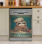 Sloth I Just Baked You Some Shut The Fucupcakes Dishwasher Cover Sticker Kitchen Decor