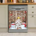 Snow Man Baby It's Cold Outside Dishwasher Cover Sticker Kitchen Decor