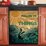 Do Not Follow Me Scuba Diving Dishwasher Cover Sticker Kitchen Decor