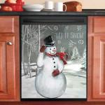 Snowman Let It Snow Dishwasher Cover Sticker Kitchen Decor