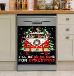 Dachshund Ho Ho Ho Christmas Hippie Dishwasher Cover Sticker Kitchen Decor