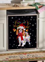 Cavalier King Gorgeous Reindeer Dishwasher Cover Sticker Kitchen Decor