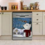 West Highland White Terrier Missing Santa Dishwasher Cover Sticker Kitchen Decor