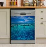 Tahiti Reef Dishwasher Cover Sticker Kitchen Decor
