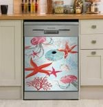 Starfish Marine Colorful Dishwasher Cover Sticker Kitchen Decor