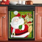 Christmas Santa Claus Bring Gifts Dishwasher Cover Sticker Kitchen Decor