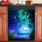 Unicorn Fantasy Dishwasher Cover Sticker Kitchen Decor