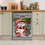 Siberian Husky Noel Dishwasher Cover Sticker Kitchen Decor