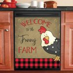 Welcome To The Funny Farm Lovely Cock Dishwasher Cover Sticker Kitchen Decor