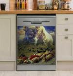 White Buffalo Prophesy Dishwasher Cover Sticker Kitchen Decor